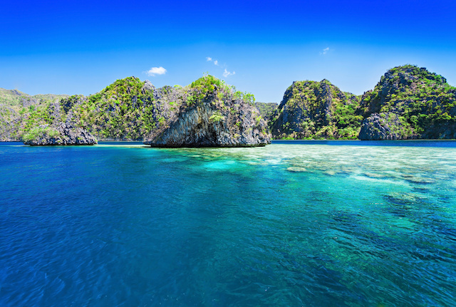 Very beautiful islands in the sea, Philippines
