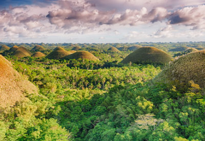 Panorama of The Chocolate Hills. Bohol, Philippines