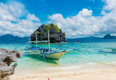 Tropical island of Palawan, in south east asia of the Philippines in El Nido